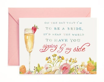 Will you be in my wedding Card
