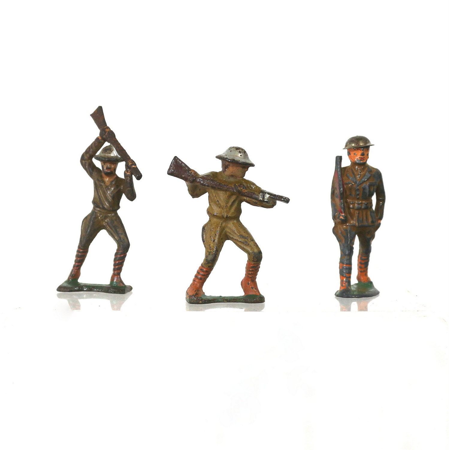 Army Toys For Boys : S toy army soldier set by barclay vintage lead