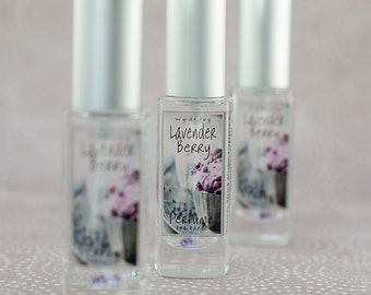 Lavender Berry Perfume   A Sweet Floral Dessert Inspired Fragrance with notes of Lavender, Vanilla Cream, Blackberry, and Sugar