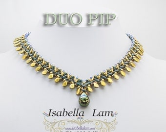 DUO PIP SuperDuo Beadwork Necklace tutorial instructions for personal use only