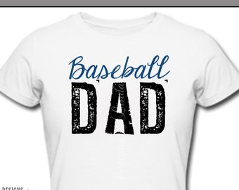 Iron On ~ Baseball DAD ~ Printable Digital Download for Iron on Transfer for T-Shirt, tote, fabric ~ Little League, TBall, Mom TBall