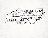 North Carolina Personalized Return Address State Stamp