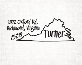 Virginia Personalized Return Address State Stamp
