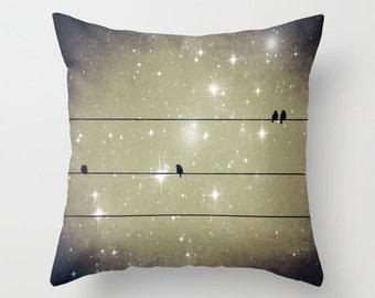 Throw Pillow, Dreams Reborn, 16x16, 18x18, 20x20, Dreamy Pillow, Decorative Pillow, Cushion, Night Sky, Interior Design, Starry Night Pillow