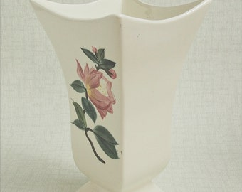 Vintage Mid-Century Modern RED WING Tall Curvy 'BLOSSoM TiME' VASE H511 Near Fine