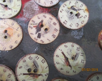 Clock Buttons  2 Hole Buttons  Three Quarter Inch Buttons  Childrens Clothes