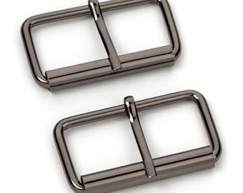 "30pcs - 2"" Roller Pin Belt Buckles - Black Nickel - Free Shipping (ROLLER BUCKLE RBK-127)"