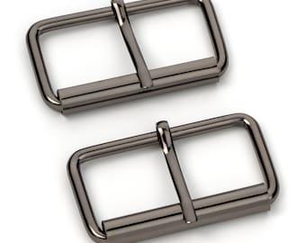 "100pcs - 2"" Roller Pin Belt Buckles - Black Nickel - Free Shipping (ROLLER BUCKLE RBK-127)"