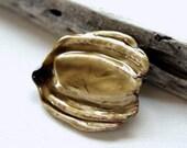 Squash Blossom Shawl Pin, Large, Sweater Brooch, Handmade, Porcelain Glazed, Cheldena Ceramic Pottery, Jewelry