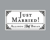 Just Married Wedding Car Magnets - Car Magnets Vintage Antique Victorian French Country Rustic Just Married Wedding Car Magnets