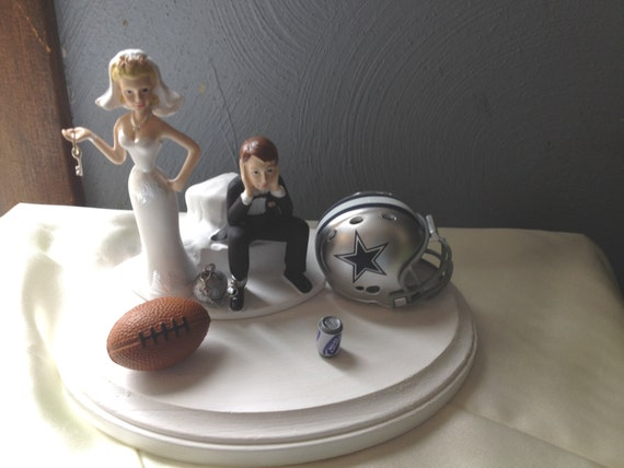 nfl wedding cake toppers dallas cowboys wedding cake topper bridal humorous 17840