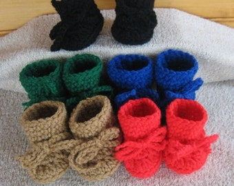 Crochet Doll Shoes - 5 for 1 price - Bitty Baby Doll - Lot  5