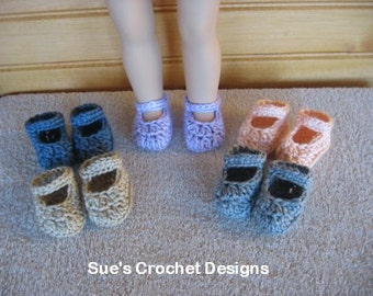 Crochet Doll Shoes for Bitty Baby and American Girl Doll - 5 for price of 1 - Lot 5