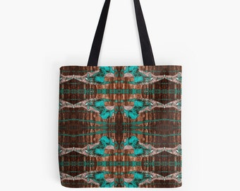 Black & Blue Lace Tote Bag - Artist designed totes - Beach bag - Accessories - Boho Gypsy fashion - Art Bags - Abstract Tote - Grocery Bag