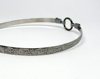 Made To Order Fleur Sterling Silver Slave Collar Antiqued Finish