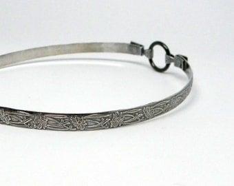 Made To Order Fleur Sterling Silver Slave Collar Antiqued Finish