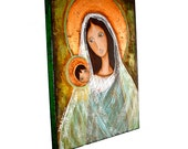 Original Old World Madonna - Painting on 18 x 24 Canvas by FLOR LARIOS
