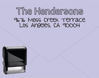 FREE US SHIPPING * Self Inking Return Address Stamp * Custom Address Rubber Stamp (E036)