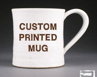 Custom Printed Stoneware Mug