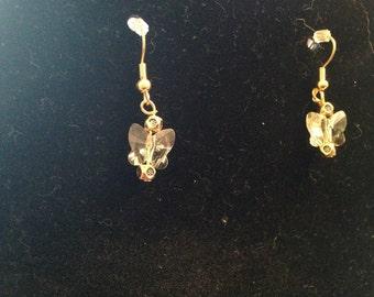 Swarovski Yellow Butterfly Earrings