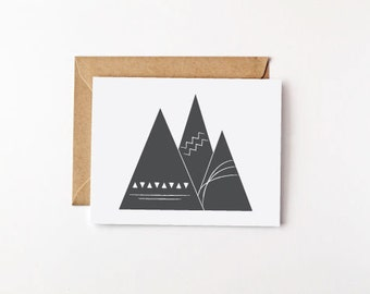 Mountains Eco Friendly Card Set Stationery Set Recycled Paper Note Card Set Blank Cards Blank Note Cards Mountain Art Mountain Print