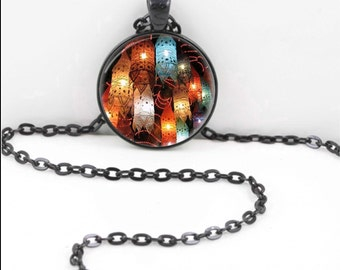 Gypsy Lanterns Necklace, Gypsy Lanterns Pendant, Gypsy Lanterns Bohemian Gypsy Jewelry RW619