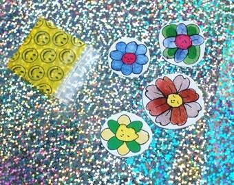 4 little flowers (small sticker pack)