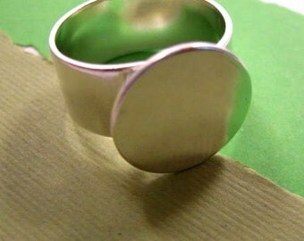 Adjustable Sterling Silver Plated Ring from Nunn Design - 16mm Base