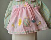 1960s Pink Duck Spring Blouse~Size Newborn
