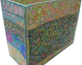 Handmade Large Craft and Stationary Organizer in Green Kaffe Fassett Fabrics