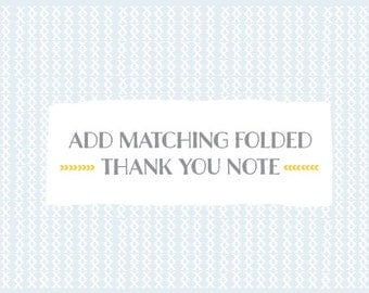Add matching FOLDED THANK YOU notes