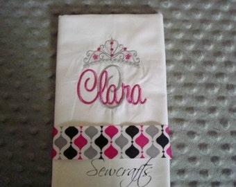 Clara Personalized Burp Cloth Premium Quality 6-Ply Burp cloth- Name