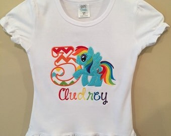 Rainbow dash birthday shirt
