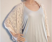 Lace Scarf Shawl // Vintage lace reclaimed // one-off
