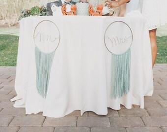 Boho Mr & Mrs wedding sign
