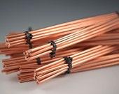 "Copper Wire...6gauge, 10pc lots of 9"" copper wire, Metalsmith, cuff bracelets, bangle bracelets, jewelry designers, artisan jewelry wire"