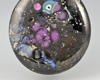 Milky Way   ... glass CABOCHON artsy organic lampwork jewelry designer cabs SRA by GrowingEdgeGlass/ Mikelene Reusse