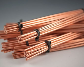 "Copper Wire...6gauge, 10pc lots of 9"" copper wire, Metalsmith, cuff bracelets, bangle bracelets, jewelry designers, artisan jewelry wire"