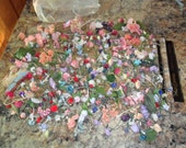 Large Lot of Mainly Mixed Polyester Florals for crafting - lots of little roses