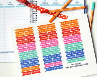 PRINTABLE Circus Tent To-Do List Page Flag Planner Sticker Set