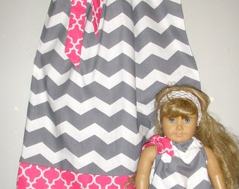dress matching  America Girl Doll pillowcase dresses  3, 6, 9 12, 18 months, , 2t, 3t, 4t, 5t,6,7,8,10,12