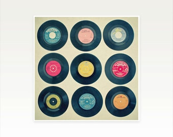 Vinyl Record Art, Music, Retro Wall Art - Vinyl Collection