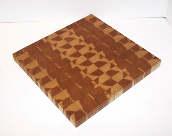 OOAK End Grain Cutting Board / Chopping Block Handcrafted from Ash Hardwood