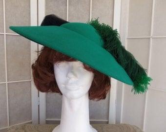 Vintage Women's Green Fashion Hat