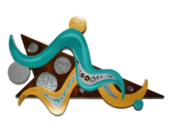 """Beautiful & Elegant """"Tiffany"""" Contemporary Abstract Modern Art Wooden Wall Sculpture For Home and Office Decor by Zannalisa"""