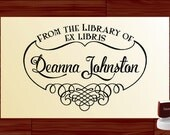 Bookplate Stamp EX LIBRIS Custom Self inking From the LIBRARY of Rubber Book Stamp - Personalized Library Stamper - Label EL5001