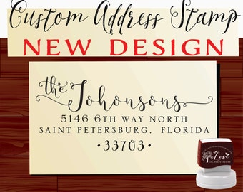 Custom ADDRESS STAMP  - Personalized Self Inking stamp - Style 1159D