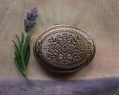 Vera Solid Natural Perfume Mini Compact - The Lavender Fields and Orange Groves of Ojai with California Sage - Keepsake Pocket Locket