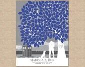 TARDIS Wedding Art, Wedding Signature Tree, Alternative Guestbook Idea, Wedding Day Keepsake // Choose Art Print or Canvas // W-T05-1PS HH3