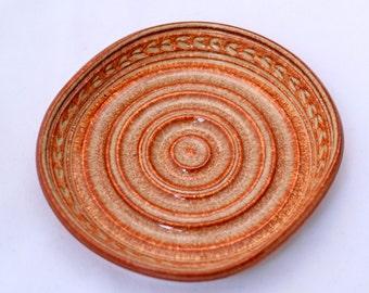 Soap Dish in Copper Brown - Ceramic Stoneware Pottery